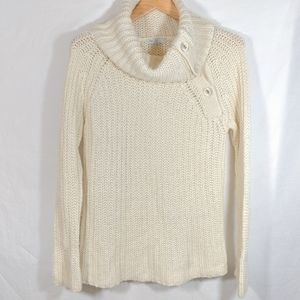 GAP Cowl Neck Button Detail Chunky Sweater